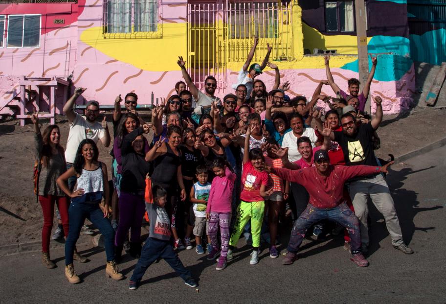 Pinturas participativas Antofagasta